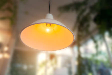 lamp on ceiling or Interior Lighting with blur background Stock Photo