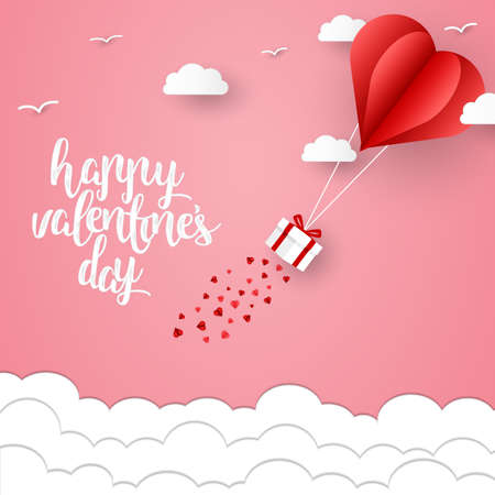 Happy valentines day and weeding design elements. Vector illustration. valentines day Pink Background With Ornaments, valentines day Hearts. Doodles and curls.