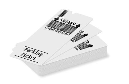 car parking: Ticket for parking area Stock Photo
