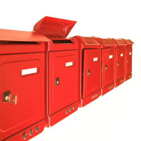 mail slot: New Red mailbox