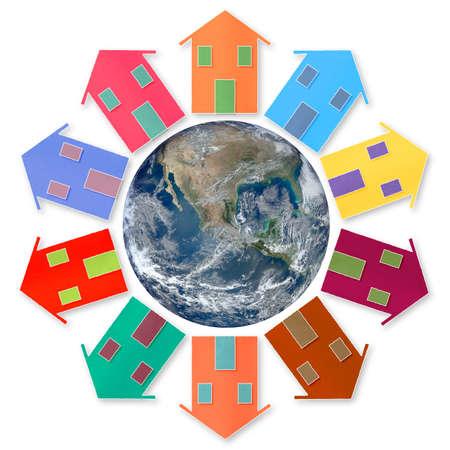 global village: Global village - concept image