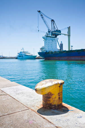 merchant: Merchant ship docked in an Italian port Editorial
