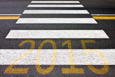 bisiness: Going toward 2015 Stock Photo