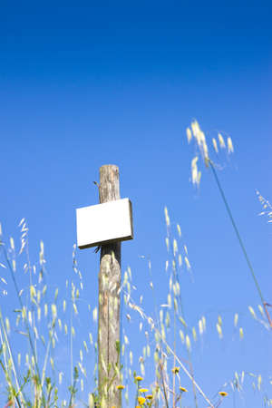 blank sign: Blank Sign in the countryside
