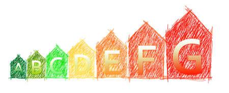 Energieeffizienz - Bild farbige Konzept