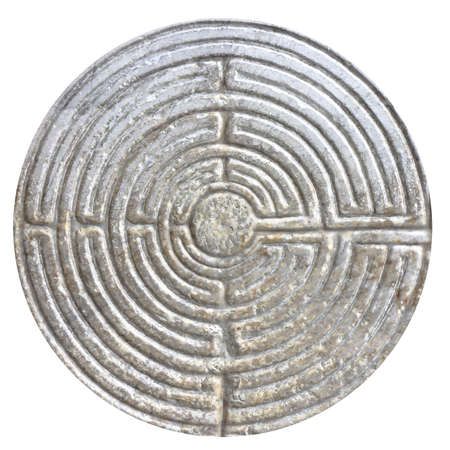 11th century: Labyrinth carved on the facade of a Romanesque church of the 11th century