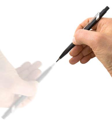 psyche: Gr�fico de la mano de una mano - concepto