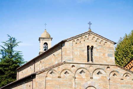 pilasters: Italy - Tuscany - Medieval church of Vicopisano.