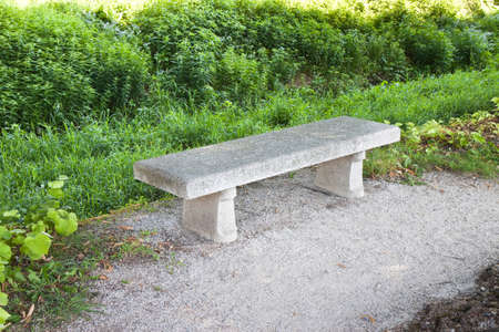 Stone Bench in the park