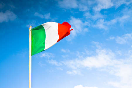snatched: Italians flag snatched - concept of economic crisis