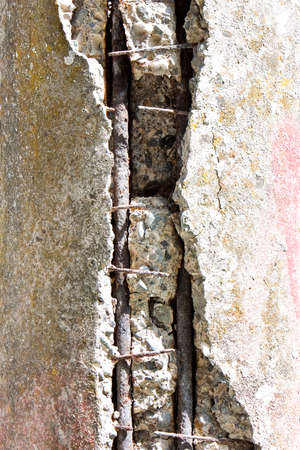 disrepair: Detail of concrete piling in states of disrepair - concept image Stock Photo