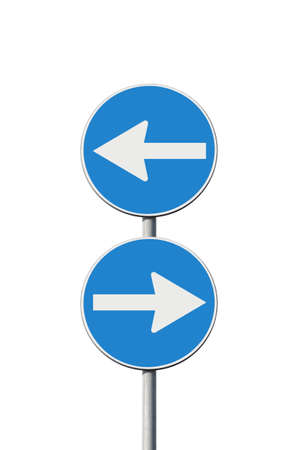 hesitancy: Indecision - concept image whit road signs