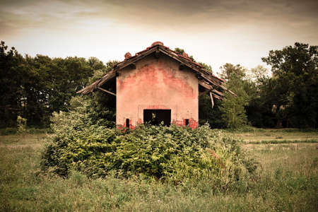 19th century: Old abandoned farm structures of the 19th century
