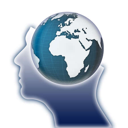 global thinking: Global thinking concept image  Stock Photo