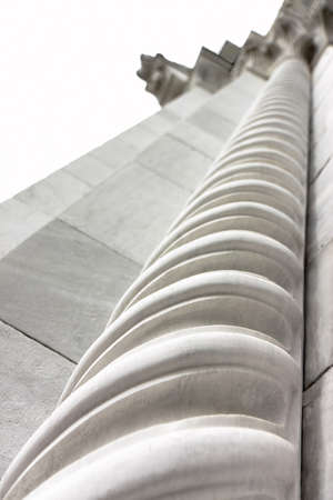 come up to: White marble column with spiral shape - concept of spiritual growth