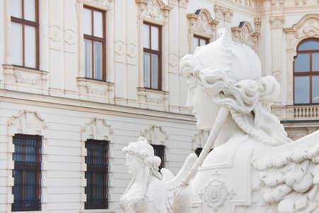 esfinge: Esfinge en el parque del palacio Belvedere en Viena; Austria.