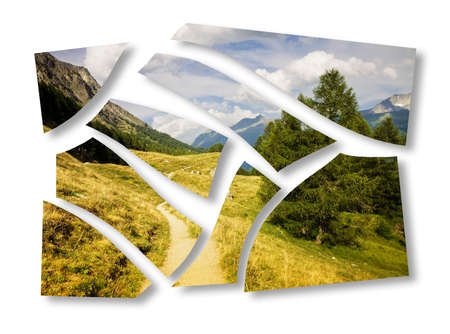 sort out: Planning a holiday in mountain - concept image