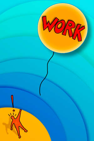 losing: Losing a job: the work fly away! - concept image Stock Photo