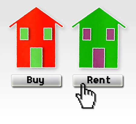 Buy or rent: this is the problem! Concept image