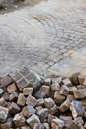 repairs: Road repairs in a porphyry road