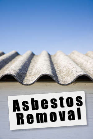 removing the risk: Asbestos removal concept image with copy space Stock Photo