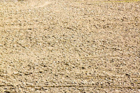 sowing: Plough agriculture field before sowing - Plowed field background