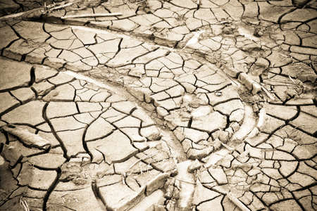 Cracked ground: the effects of drought - concept image