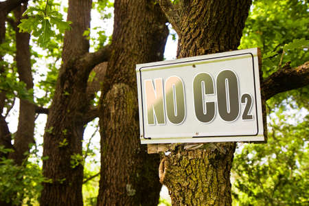 co2: No CO2 sign indicating in the countryside - concept image