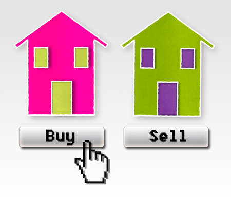 Buy or sell: this is the problem! Concept image