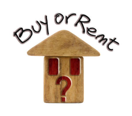 price uncertainty: Buy or rent a new home? - Concept image