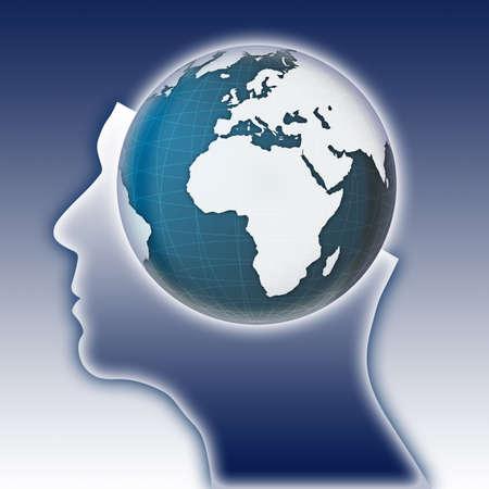 global thinking: Global thinking concept image