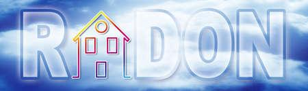Dangerous radon gas - concept image