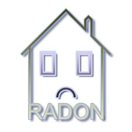 Het gevaar van radongas in onze huizen - concept illustratie