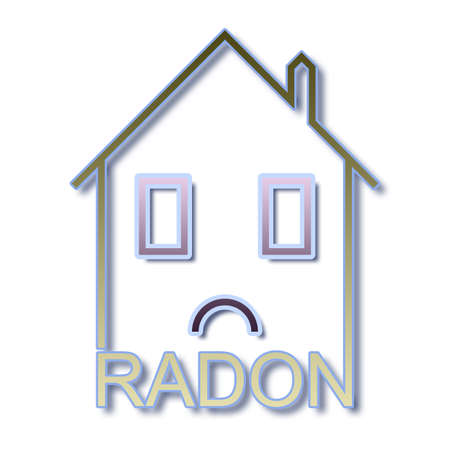 radium: The danger of radon gas in our homes - concept illustration