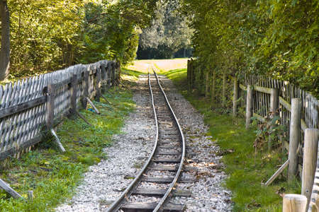 thoroughfare: Detail of a little tramway in an urban park of Wien - Austria