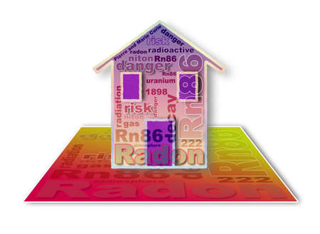 filtering: The danger of radon gas in our homes - concept illustration