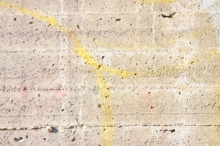 Concrete wall - You can see the footprints of the timber used for the formwork Stock Photo