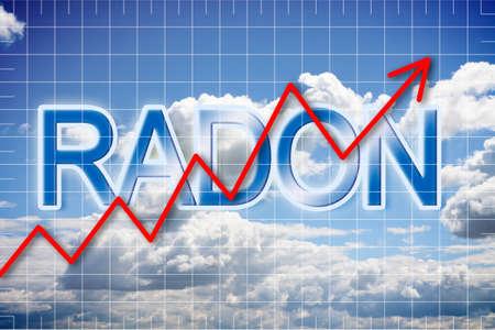 Présence de radon dans l'air - image concept