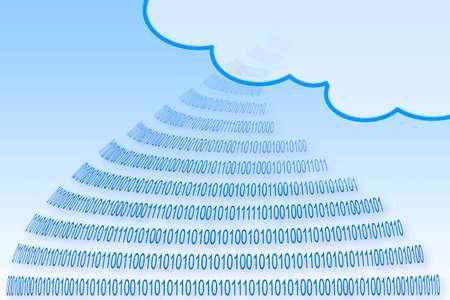 Secure storage on service cloud - concept image