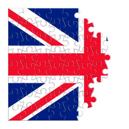 dismantle: Rebuild england - concept image in puzzle shape