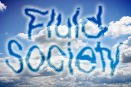 Fluid and liquid society concept image