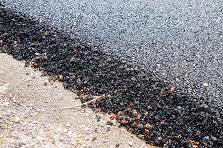 New asphalt road background - concept image