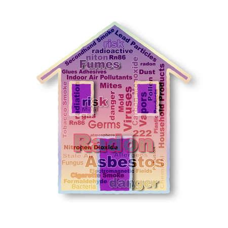 Check list of indoor pollutants - concept image Banco de Imagens