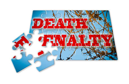 Abolition of the death penalty - concept image in puzzle shape