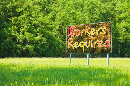 Workers required for outdoor activities - concept image Stock Photo