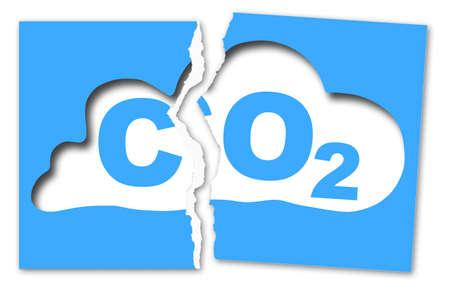 분위기있는 이산화탄소 (Co2) 존재로부터 자유 - 찢어진 사진으로 컨셉 이미지 스톡 콘텐츠