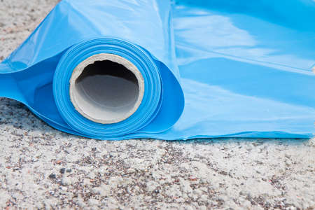 Polyethylene protection vapour barrier to restrict the passage of vapour from the hot part of the structure to the cold part of roof and wall and protect it from problems caused by the formation of condensation