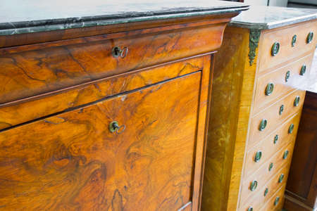 Detail of an antique italian furniture