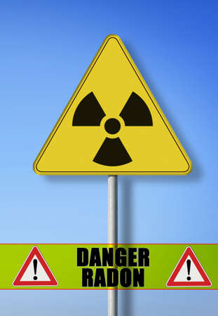 Danger of radioactive contamination from gas radon - concept image Stockfoto - 109258793