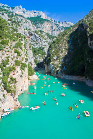 The largest European canyon called Verdon Gorges (Europe-France-Provence)